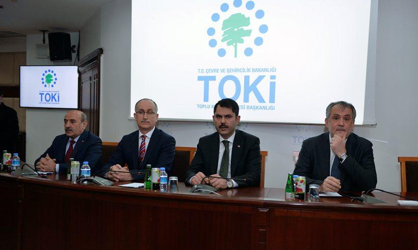 Bakan Murat Kurum TOKİ'yi ziyaret etti