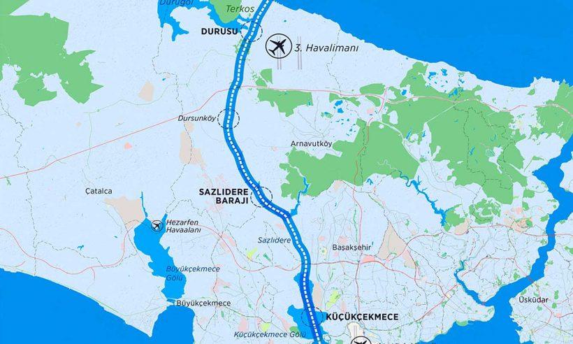 Kanal İstanbul'un güzergahları belli oldu