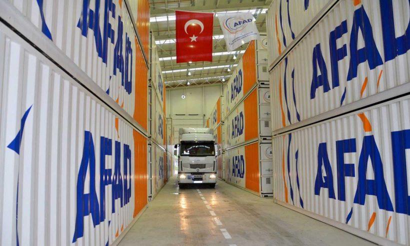 Depremzedeler için konteyner sevki başladı