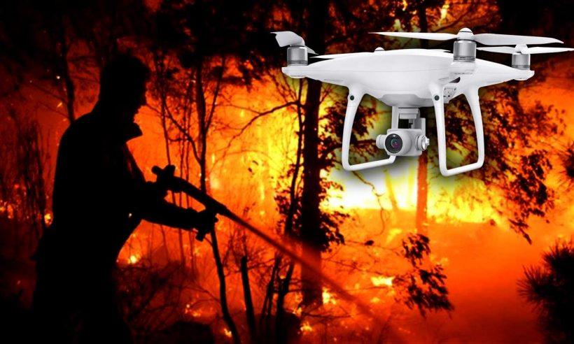 Orman yangınlarına İHA'lı takip