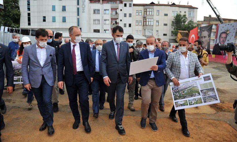 Bakan Kurum, Trabzon'da incelemelerde bulundu