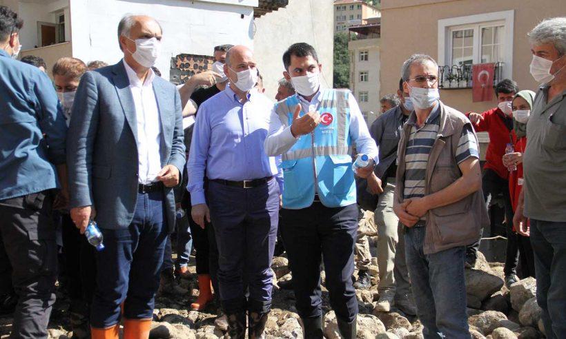 Selden etkilenen Doğankent'e 150, Dereli'ye 200 konut müjdesi