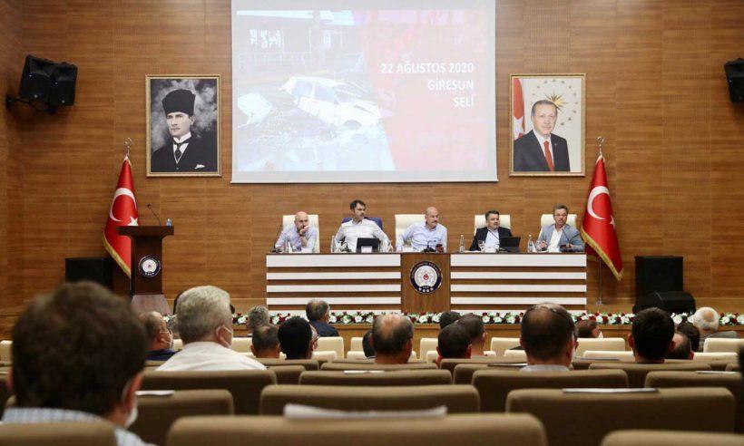 Giresun'da Hasar Tespit ve Koordinasyon Toplantısı