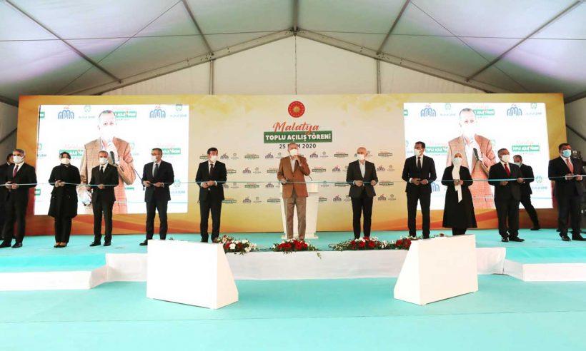 Cumhurbaşkanı Erdoğan, Malatya'da Toplu Açılış Töreni'ne katıldı