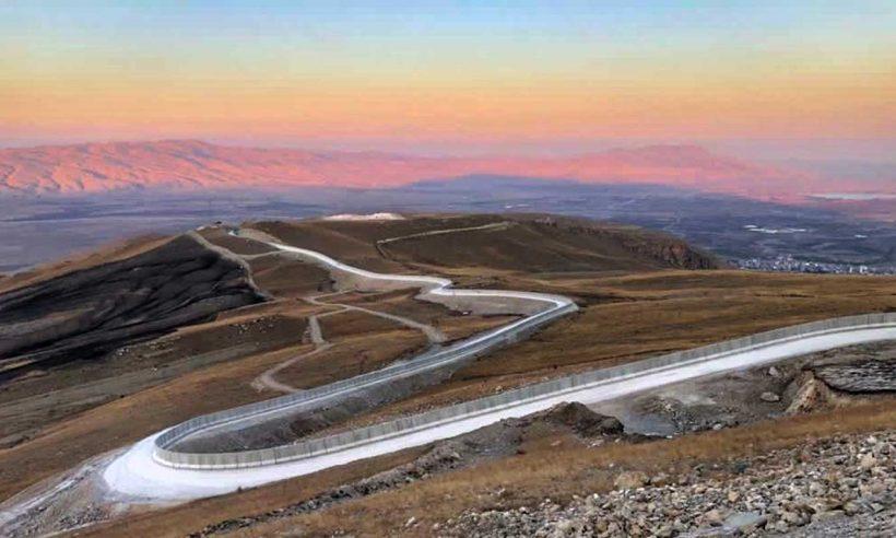 Ağrı-İran sınırındaki 81 kilometrelik güvenlik duvarı tamamlandı