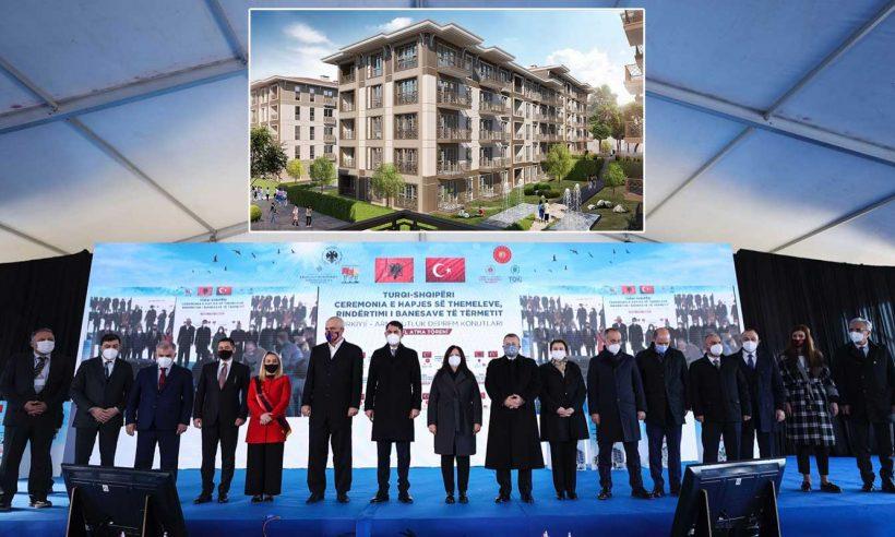 Arnavutluk'ta TOKİ'nin inşa edeceği deprem konutlarının temeli atıldı