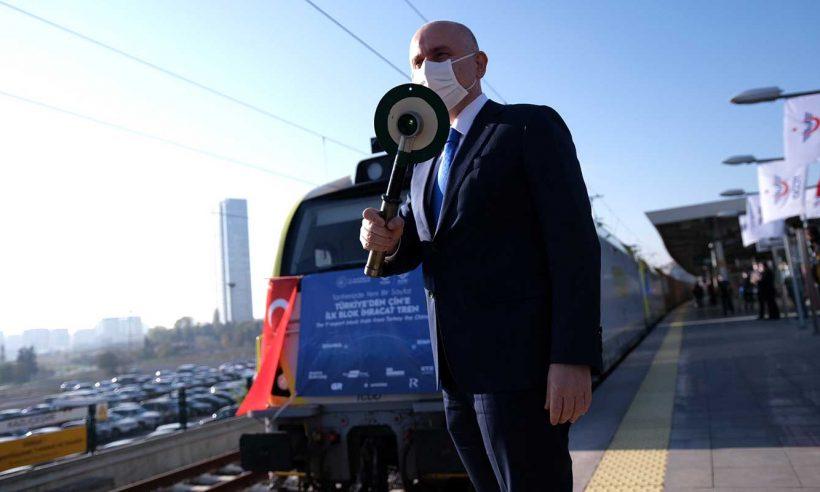 Çin'e gidecek ihracat treni yola çıktı