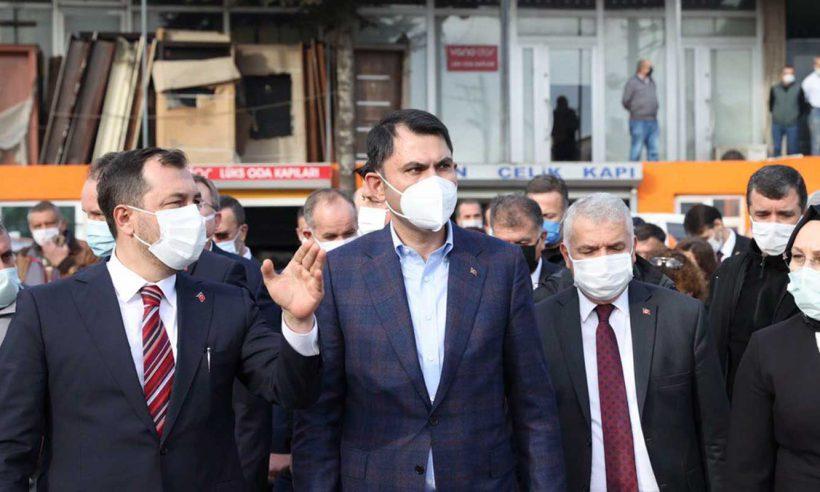 Bakan Kurum Tekirdağ'da incelemelerde bulundu