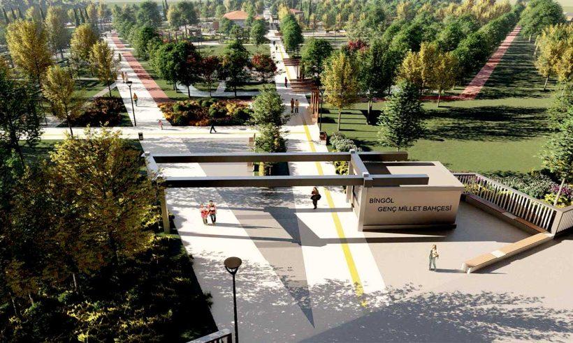 Murat Nehri ve Genç Köprüsü'nün izleri Bingöl Genç Millet Bahçesi'nde