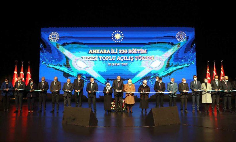 Cumhurbaşkanı Erdoğan, Ankara'daki eğitim tesislerinin açılışını yaptı