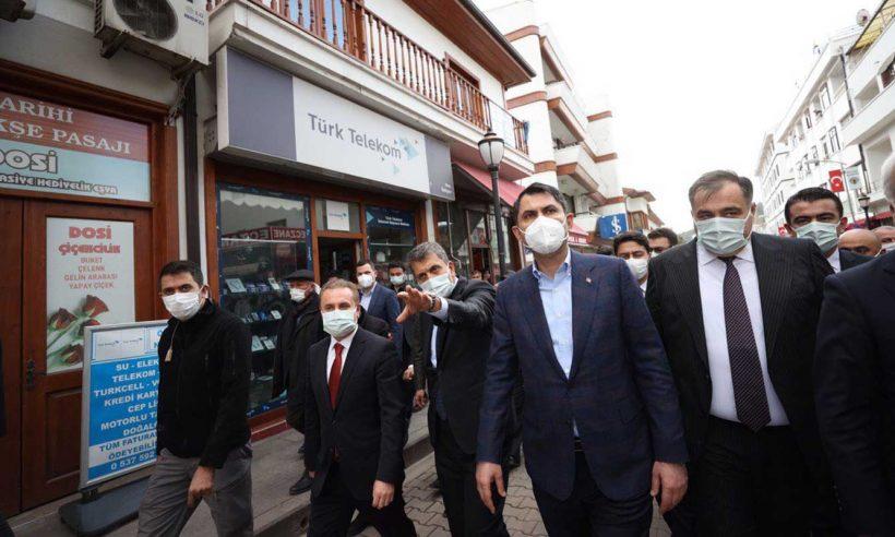 Bakan Kurum'dan Ankara'nın ilçelerine ziyaret