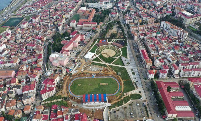 Trabzon'daki 'spor' temalı millet bahçesinde sona doğru