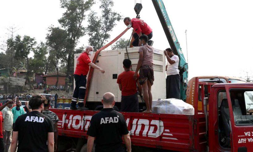 Arakan'daki yangında zarar gören Türk Sahra Hastanesi yenilenecek