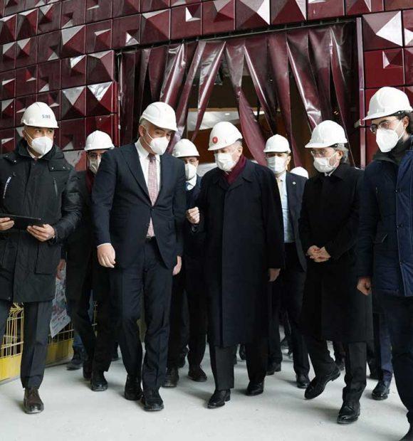 Cumhurbaşkanı Erdoğan, Taksim Camii ve AKM'de incelemelerde bulundu