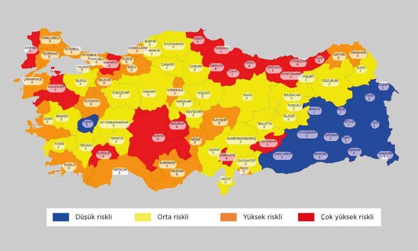 Kovid-19 risk haritası