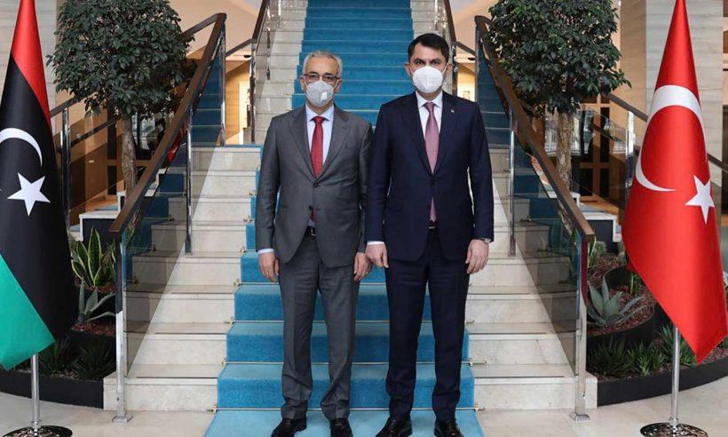 Bakan Kurum, Libyalı mevkidaşlarıyla bir araya geldi