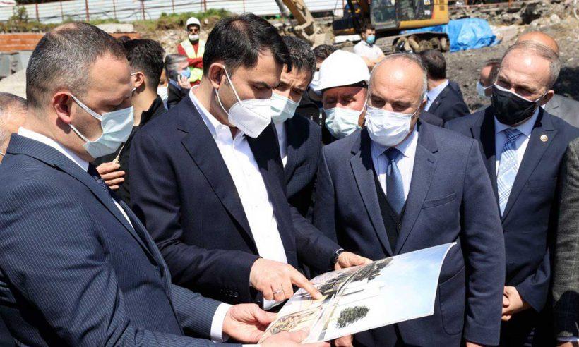 Bakan Kurum, Zonguldak'ta incelemelerde bulundu
