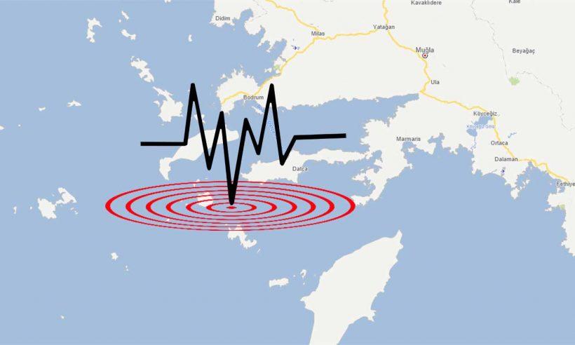 Datça'da 5,1 büyüklüğünde deprem