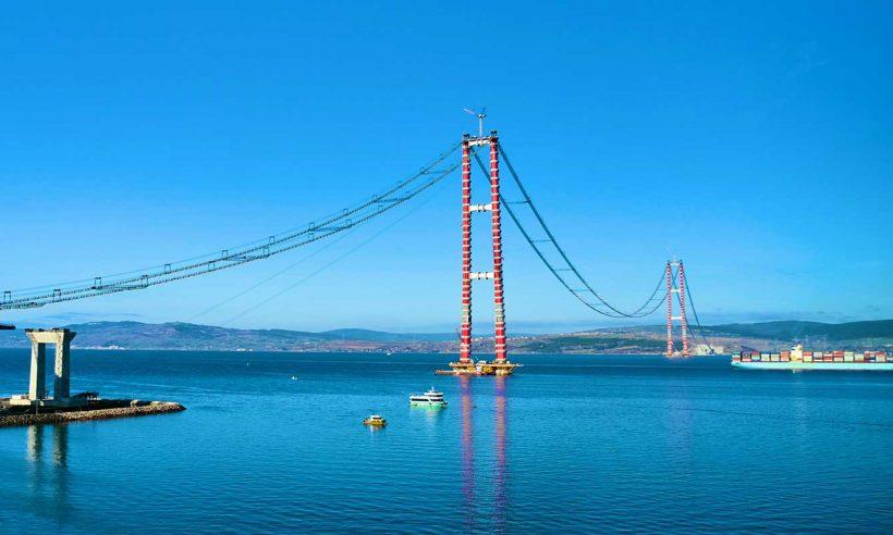 Çanakkale Köprüsü'nde araç yolu yapımına başlanıyor