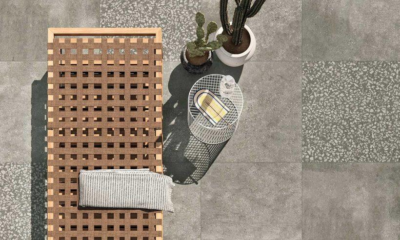 Dış mekanlarda taş ve betonun uyumu