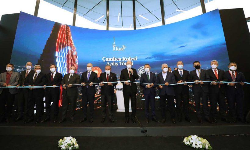 İstanbul'un en yüksek yapısı törenle açıldı