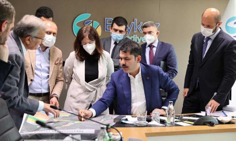 Bakan Murat Kurum, Beykoz'da incelemelerde bulundu