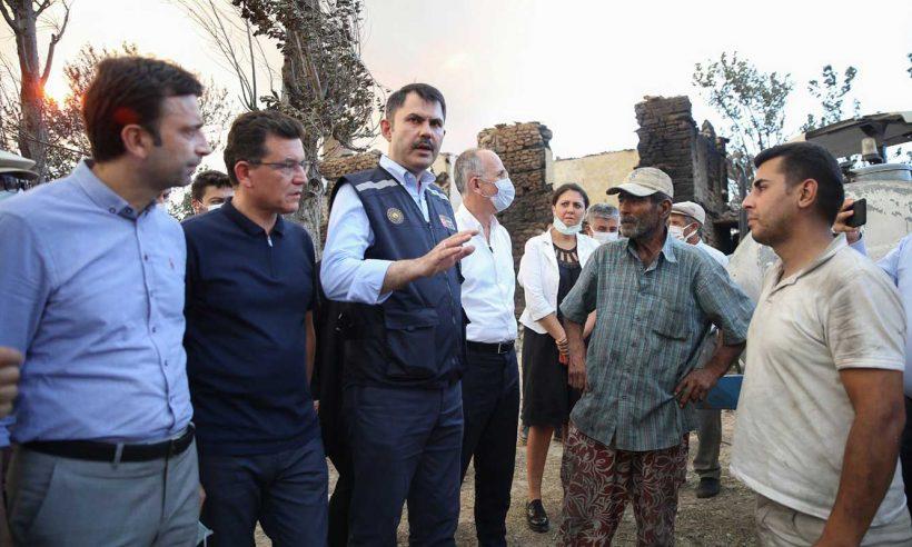 TOKİ, yangında evlerini kaybeden vatandaşlar için konut yapacak