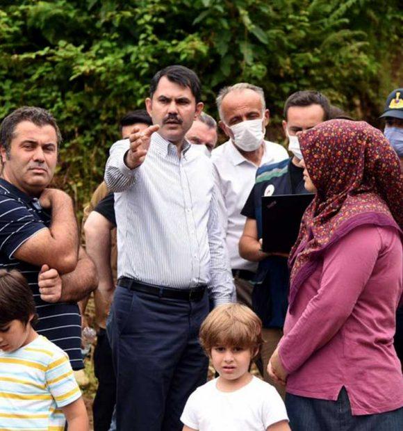 Bakan Murat Kurum, Rize'de incelemelerini sürdürdü
