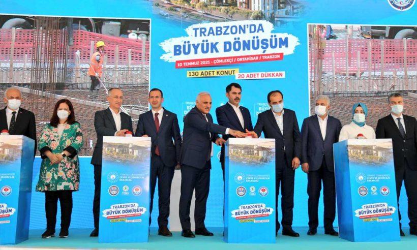 Trabzon'da Çömlekçi Kentsel Dönüşüm Projesi'nin temeli atıldı
