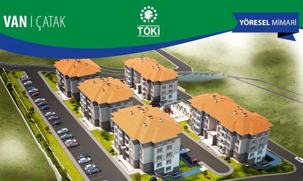 TOKİ'den Van'a yöresel mimariyle 89 konut